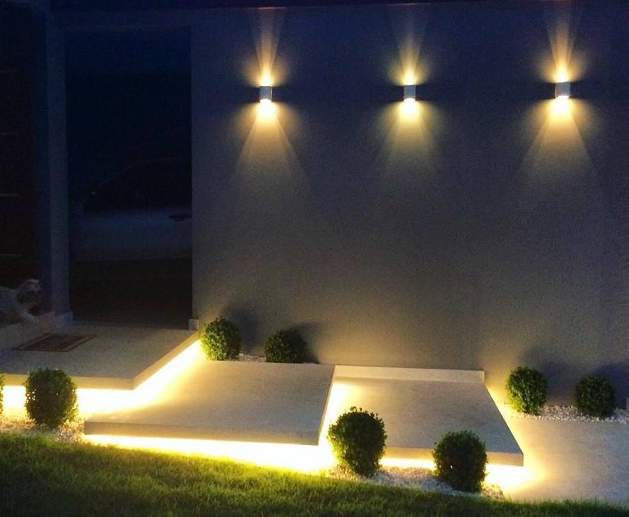 iluminação de escada de jardim