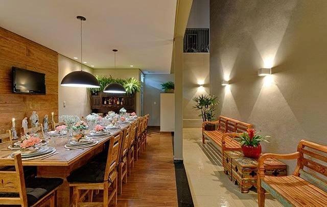 área de passagem e espaço gourmet
